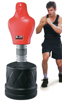 Training With A Sparring Partner Punching Bag