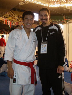Chris with coach Shihan Duane Monk